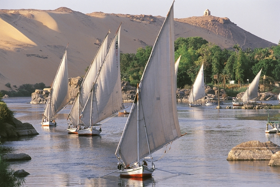 feluccas-on-nile
