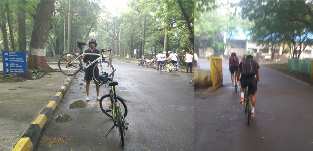 Cycling on the IIT Bombay, Powai Campus