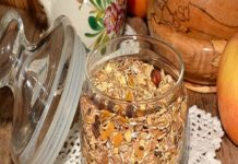 Muesli Jar Containing the richest, freshest, organic ingredients