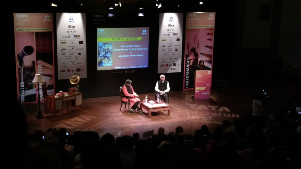 Shashi Tharoor's book launch An Era of Darkness: The British Empire in India with Amitav Ghosh.