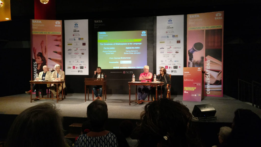 Debate on Shakespeare with Soumya Bhattacharya, Alyque Padamsee, Suhel Seth, Carlos Gamerro, Simon Choa-Johnston