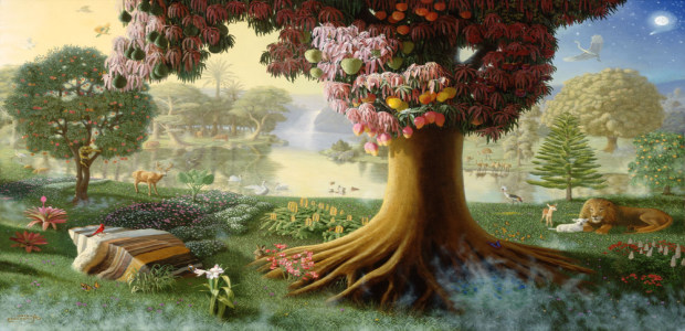Image result for garden of eden in renaissance painting